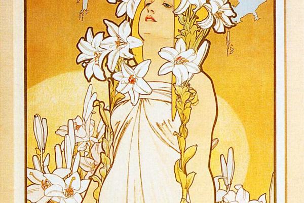 Альфонс Муха. Цветы: Лилия