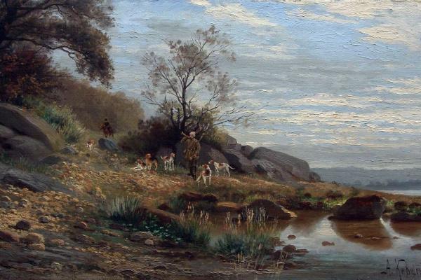 Alexey Danilovich Kivshenko. Hound hunting. 1880s