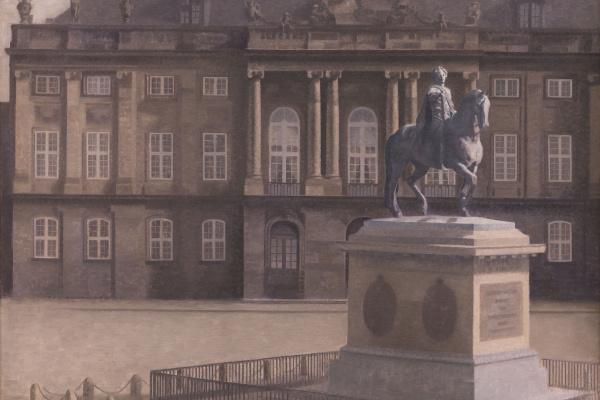 Вильгельм Хаммерсхёй. Амалиенборгская площадь, Копенгаген