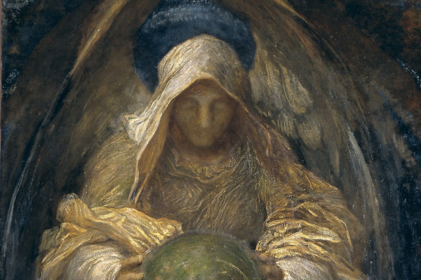 Джордж Фредерик Уоттс. Ангел-хранитель (Всепроникающий Дух Вселенной)