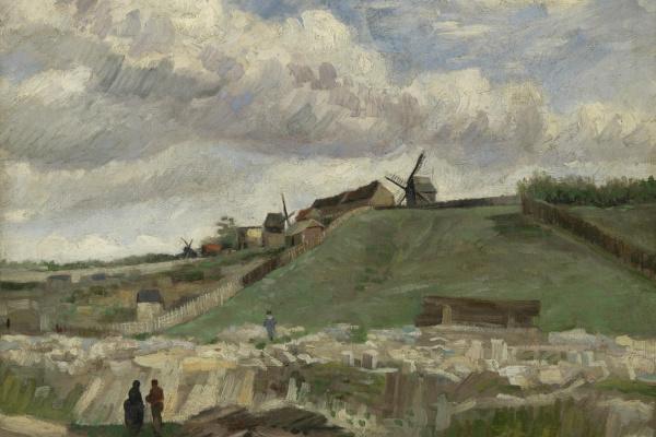 Винсент Ван Гог. Холм Монмартра с карьером и мельницей