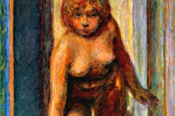 Pierre Bonnard. Woman undresses