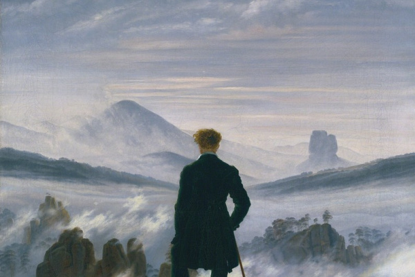 Caspar David Friedrich. Wanderer above the Sea of Fog
