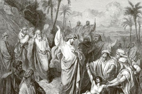 Поль Гюстав Доре. Иисус исцеляет немого бесноватого