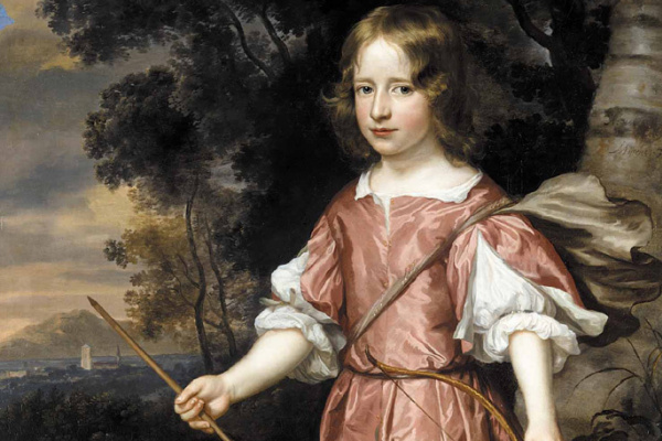 Ian Matins. Portrait of the son of a nobleman as Cupid