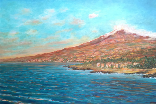 Albert Safiullin. Morning view of Etna from Recanati