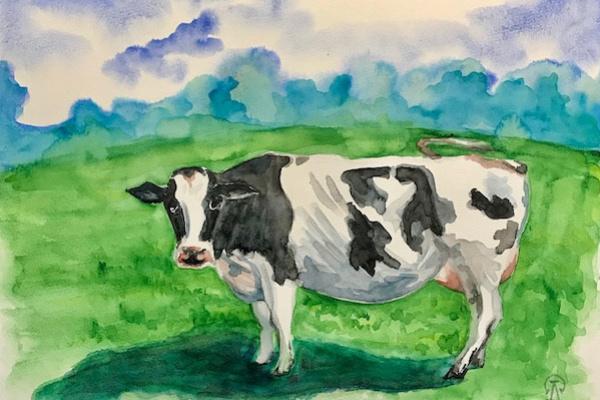 Larissa Lukaneva. Cow