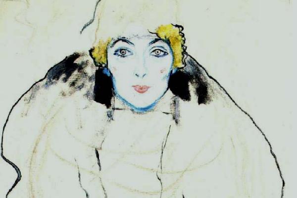 Густав Климт. Портрет леди (неоконченное)