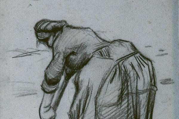 Винсент Ван Гог. Копающая женщина
