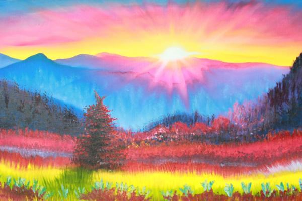 Vera Alexandrovna Kholmogorova. Bright landscape