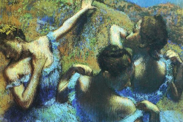 Эдгар Дега. Голубые танцовщицы