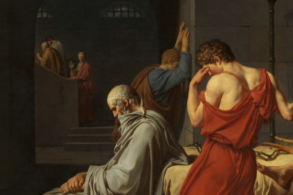 Жак-Луи Давид. Смерть Сократа. Фрагмент II