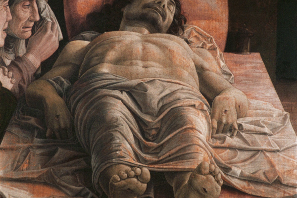Andrea Mantegna. Dead Christ (lamentation over the dead Christ)
