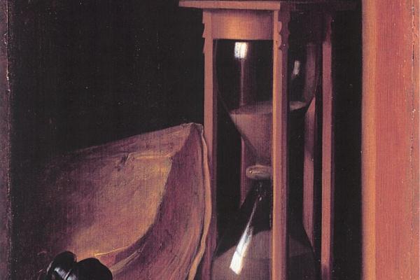 Геррит (Герард) Доу. Натюрморт с песочными часами, пеналом и печатью