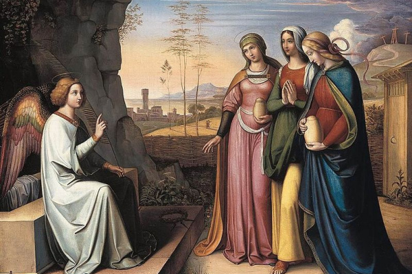 Петер фон Корнелиус. Три Марии у гробницы Христа