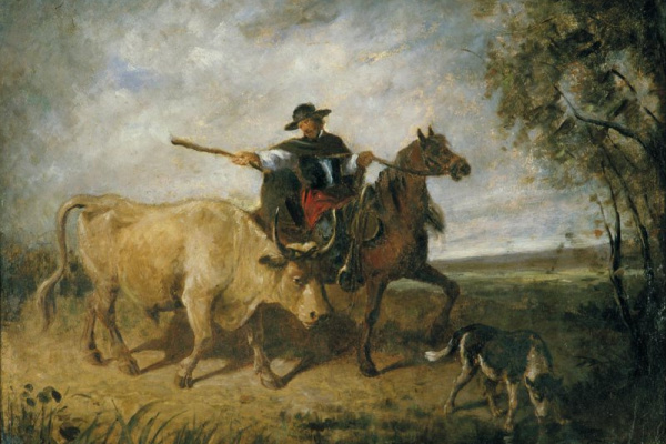 Constant Troyon. Rider with a bull.