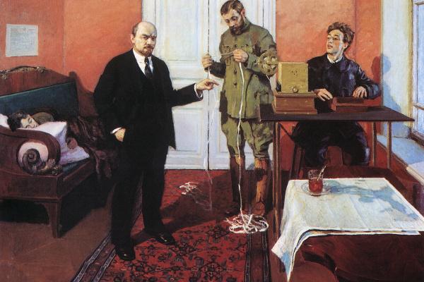 Игорь Эммануилович Грабарь. В.И. Ленин у прямого провода