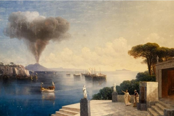 Ivan Aivazovsky. The view of Vesuvius the day before the eruption