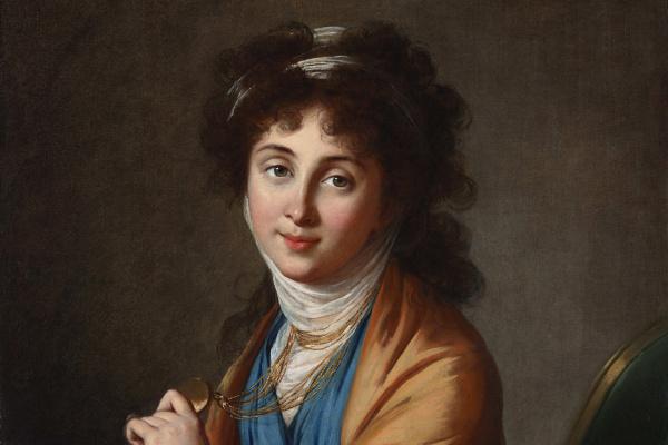 Elizabeth Vigee Le Brun. Portrait of Natalia Zykharovna Kolycheva, nee Khitrovo