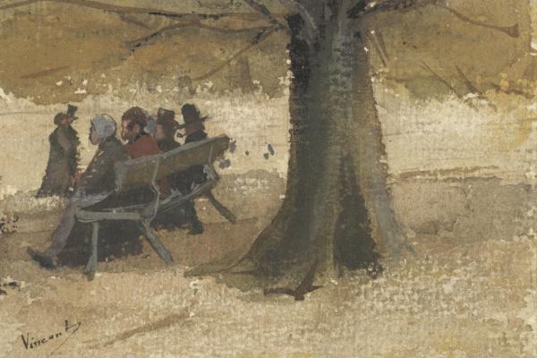 Винсент Ван Гог. Четверо на скамейке