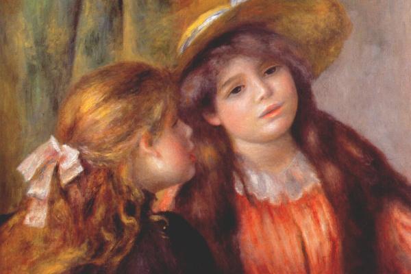 Pierre-Auguste Renoir. Two girls.