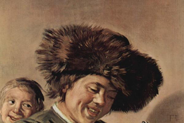 Франс Хальс. Два смеющихся юноши с пивным кувшином