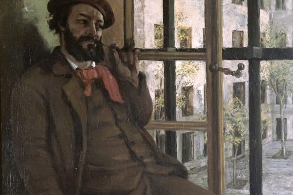 Gustave Courbet. Self Portrait in Saint Pelagie