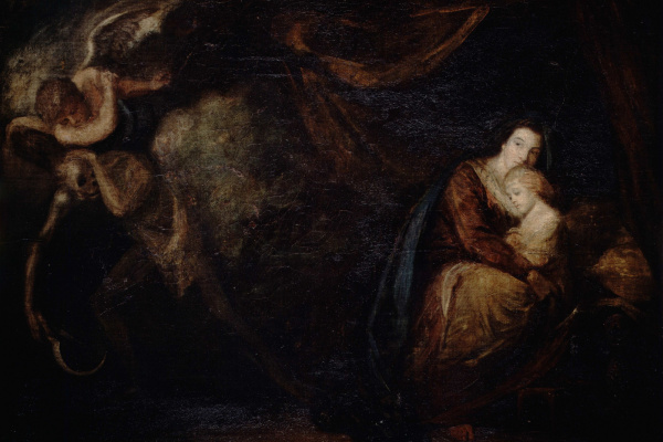 Joshua Reynolds. Victory over the disease. Allegory