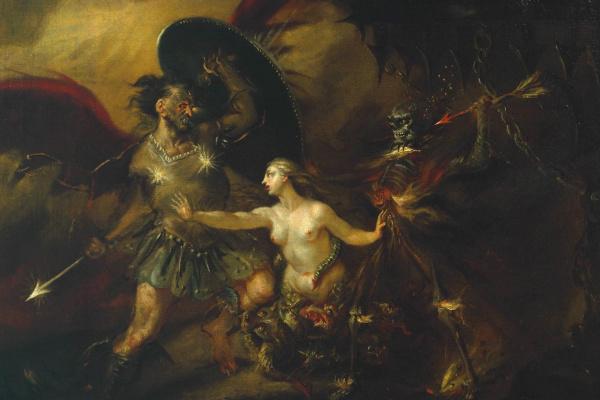 """Уильям Хогарт. Сатана, Грех и Смарть (сцена из """"Потерянного рая"""" Мильтона)"""