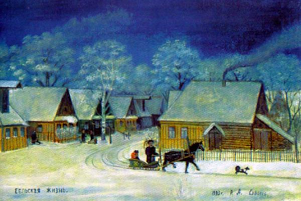 Alexander Vasilyevich Suvorov. Rural life. Fragment