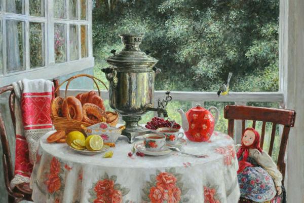 Yuri Viktorovich Kudrin. Tea on the veranda. 2013