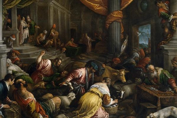 Франческо Бассано. Изгнание торговцев из храма