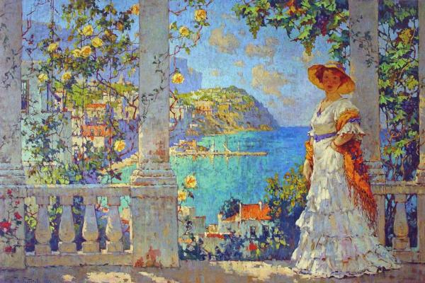 Константин Иванович Горбатов. Вид на остров Капри