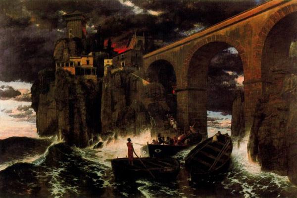 Arnold Böcklin. Boats