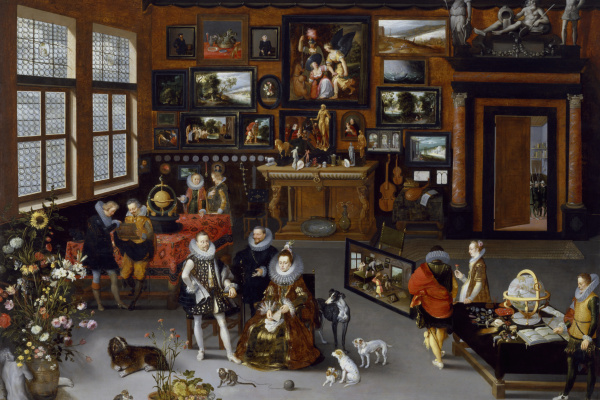 Иероним Франкен II. Эрцгерцоги Альберт и Изабелла посещают кабинет коллекционера