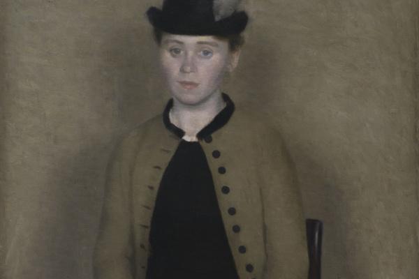 Вильгельм Хаммерсхёй. Портрет Иды Ильстед, позже - жены художника