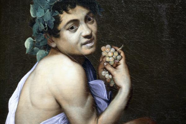 Микеланджело Меризи де Караваджо. Больной Вакх (Автопортрет в зеркальном отражении)