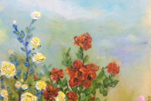 Рита Аркадьевна Бекман. Розы в саду