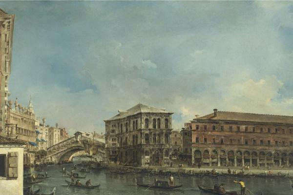 Франческо Гварди. Венеция. Мост Риальто с палаццо деи Камерлинги