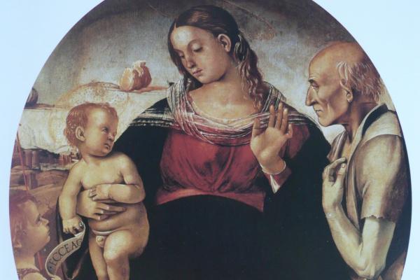 Лука Синьорелли. Мадонна с Младенцем и Святыми Иоанном Крестителем и Иеронимом