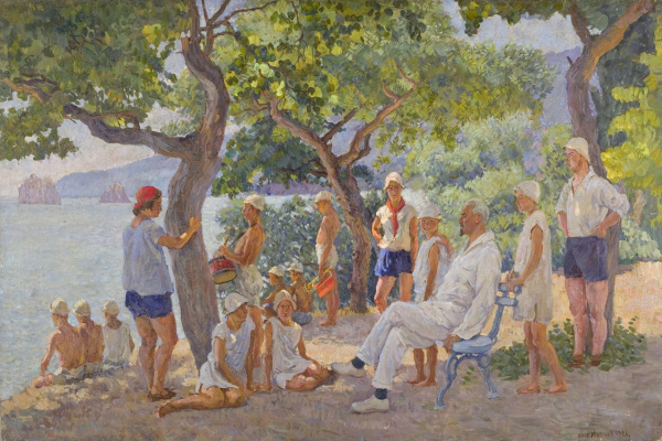 Ilya Ivanovich Mashkov. In the pioneer camp