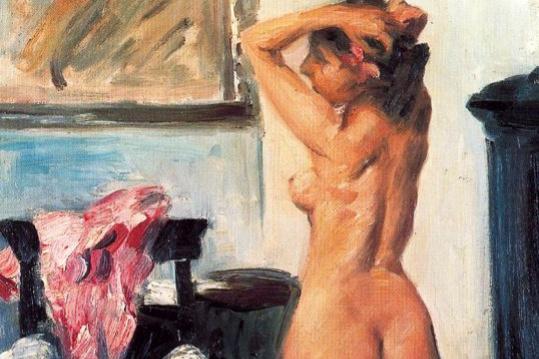 Ловис Коринт. Обнаженная женщина в комнате