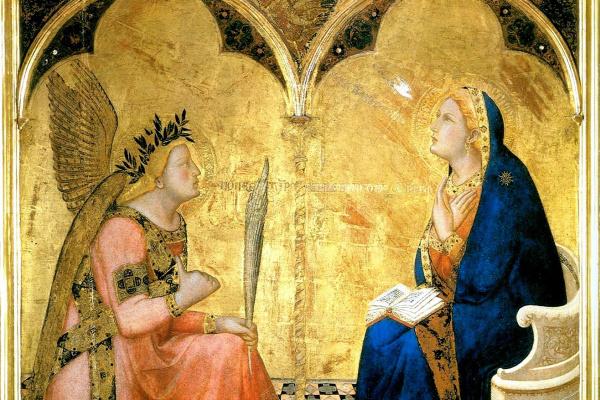 Амброджо Лоренцетти. Благовещение