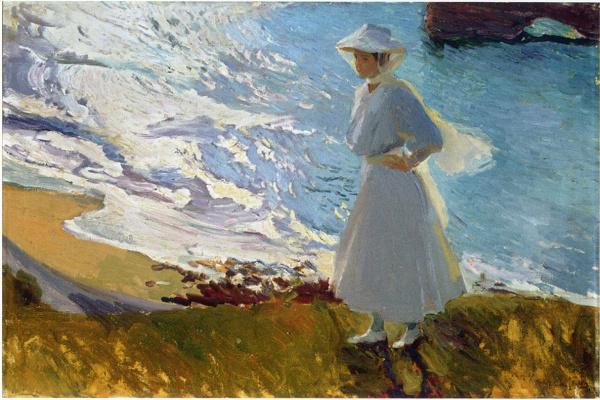 Хоакин Соролья (Соройя). Мария на пляже, Биарриц