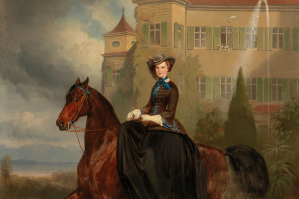 Karl Theodor von Piloti. Elisabeth of Bavaria, the future Empress of the Austrian