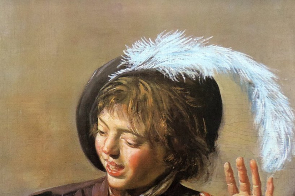 Франс Халс. Поющий мальчик с флейтой