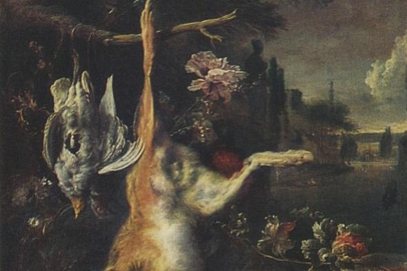 Ян Баптист Веникс. Натюрморт с мертвым зайцем