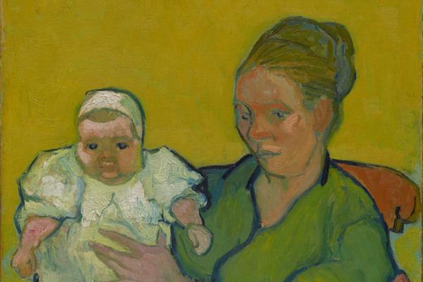 Винсент Ван Гог. Портрет мадам Августины Рулен и малыша Марселя