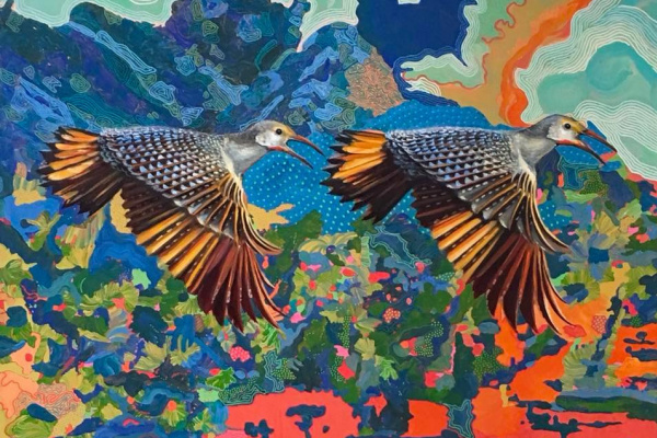 "Tatiana An. ""Golden Woodpeckers"""