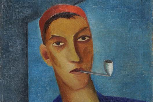 Роман Сута. Автопортрет с трубкой